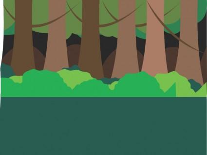 森のシーン ベクター クリップ アート 無料ベクター 無料素材