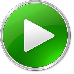 Vista のアイコンが緑色の丸いボタン 無料アイコンを再生します 無料素材イラスト ベクターのフリーデザイナー