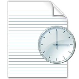 クロック時間ドキュメント Vista のアイコン 無料のアイコン 無料素材イラスト ベクターのフリーデザイナー