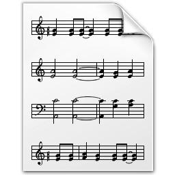 ドキュメントの音符の Vista のアイコン 無料のアイコン 無料素材イラスト ベクターのフリーデザイナー