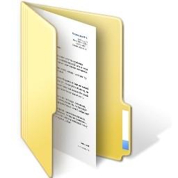 フォルダー ドキュメント開いている Vista のアイコン 無料のアイコン 無料素材イラスト ベクターのフリーデザイナー