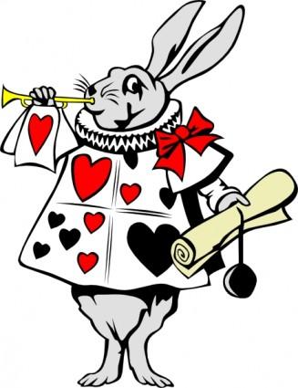 ウサギからアリス不思議の国のクリップアート ベクター クリップ アート