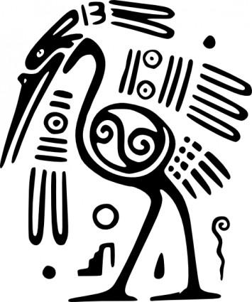 グローバルフォント メキシコフォント : Ancient Mexican Motif Clip Art
