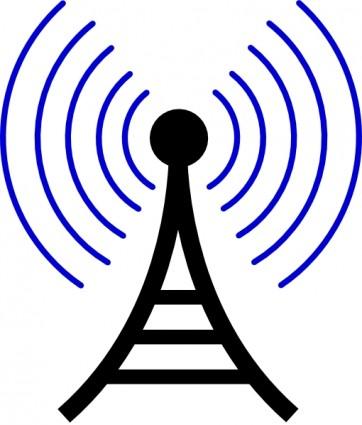 ラジオ/無線タワー クリップアート ベクター ク... 無線送信機のアンテナ クリップアート ベ