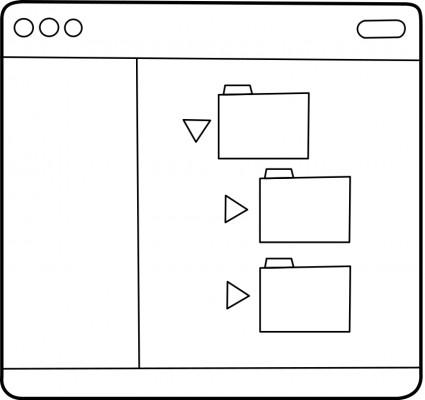 File Folder Clip Art Black and White