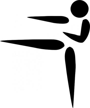 オリンピック スポーツ空手ピクトグラム クリップアート ベクター クリップ アート 無料ベクター 無料素材イラスト ベクターのフリーデザイナー