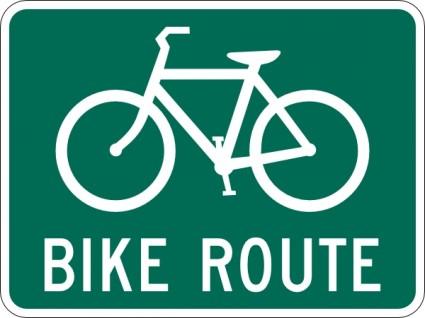 自転車の ルート 自転車 無料 : Bike Route Sign