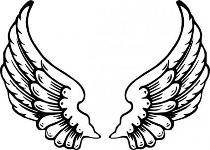天使の羽クリップ アート ベクター クリップ アート 無料ベクター