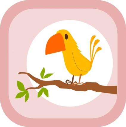 グローバルフォント スーパーヒーローのフォント : Yellow Bird Clip Art