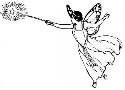 妖精の杖とクリップアート ベクター クリップ アート 無料ベクター