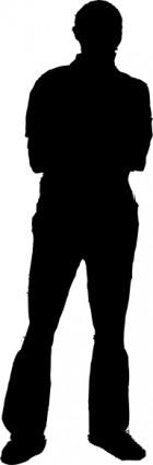 グローバルフォント スーパーヒーローのフォント : Standing Man Silhouette Clip Art