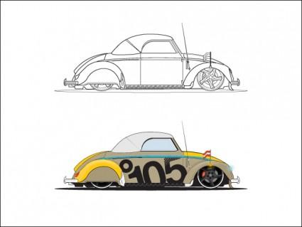 Vw ビートル ベクター車 無料ベクター 無料素材イラストベクターの
