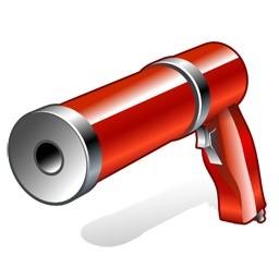 空気圧銃のアイコン 無料のアイコンをコーキング 無料素材イラスト ベクターのフリーデザイナー