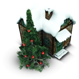 クリスマスの家無料アイコン 140 Kb 無料素材イラスト ベクターのフリーデザイナー