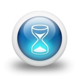 光沢のある 3 D 青い砂時計無料アイコン 19 Kb 無料素材イラスト ベクターのフリーデザイナー