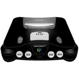 任天堂 64 黒無料アイコン 52 64 Kb 無料素材イラスト ベクターのフリーデザイナー