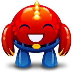 赤いモンスター幸せな無料アイコン 99 13 Kb 無料素材イラスト ベクターのフリーデザイナー