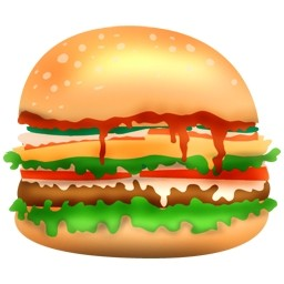 ハンバーガー無料アイコン 119 24 Kb 無料素材イラスト ベクターのフリーデザイナー