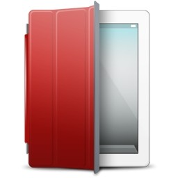Ipad の白赤カバー無料アイコン 60 33 Kb 無料素材イラスト ベクターのフリーデザイナー
