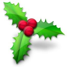 クリスマスのヒイラギのアイコン 無料のアイコン 無料素材イラスト ベクターのフリーデザイナー