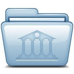 青い図書館無料アイコン 74 53 Kb 無料素材イラスト ベクターのフリーデザイナー