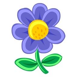 青い花無料アイコン 72 38 Kb 無料素材イラスト ベクターのフリーデザイナー
