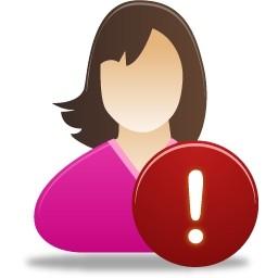 女性ユーザー警告無料アイコン 54 Kb 無料素材イラスト ベクターのフリーデザイナー