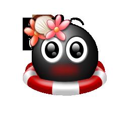 黒い頭かわいい顔コンピューター アイコン Png の夏テーマ 無料素材イラスト ベクターのフリーデザイナー