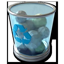 Vista スタイルのゴミ箱アイコン Png 無料素材イラスト ベクターのフリーデザイナー