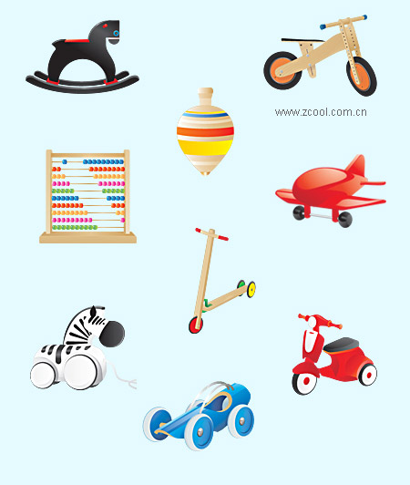 子供のおもちゃのアイコン ベクター材料 | 無料素材 ...: free-designer.net/archive/entry6084.html