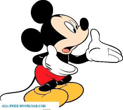 ミッキー マウス 003 ベクター漫画 , 無料ベクター