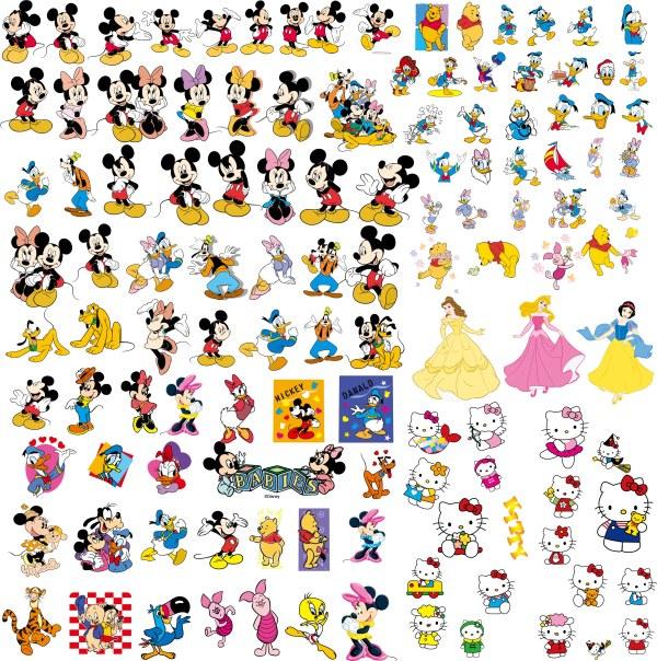 ディズニーのミッキー マウスの漫画アニメーション 無料素材イラスト