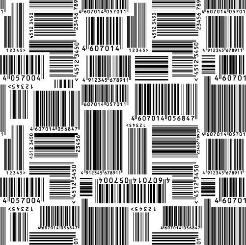バー コード ベクター材料   無料素材イラスト・ベクターのフリーデザイナー