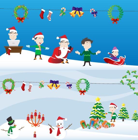 Cute Cartoon Christmas Scene