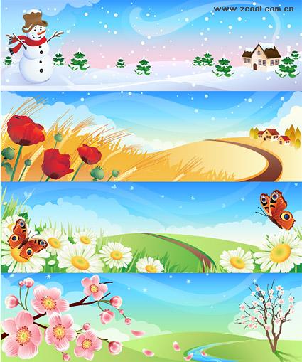 春夏秋冬の風景   無料素材 ...