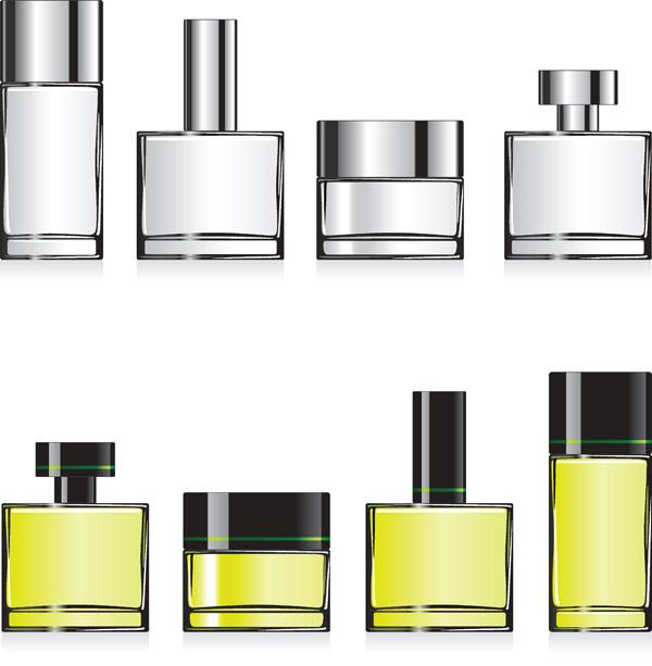 空の香水瓶のベクター素材