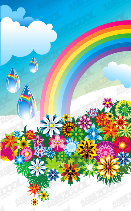 Colorful Rainbow Flowers