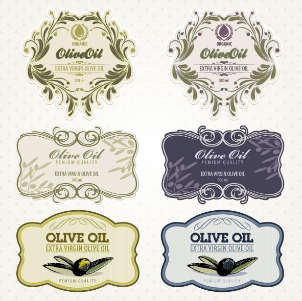 オリーブ オイル ラベル 02 - ベクター素材 | 無料素材イラスト・ベクターのフリーデザイナー
