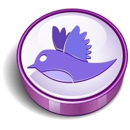 さえずり鳥紫記号の無料アイコン 85 58 Kb 無料素材イラスト ベクターのフリーデザイナー