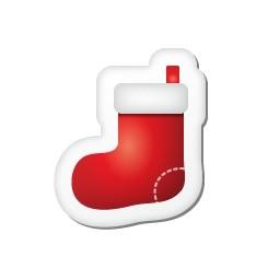 クリスマス ステッカー ストッキング無料アイコン 36 41 Kb 無料素材イラスト ベクターのフリーデザイナー