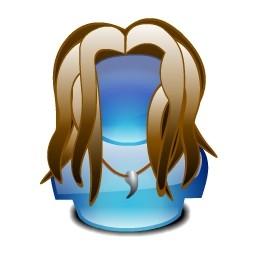 青の水晶の女の子 Vista のアイコン 無料のアイコン 無料素材イラスト ベクターのフリーデザイナー