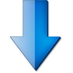 Vista のアイコン 無料のアイコンに下向き矢印ブルーします 無料素材イラスト ベクターのフリーデザイナー