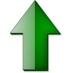 緑の上向き矢印の Vista のアイコン 無料のアイコン 無料素材イラスト ベクターのフリーデザイナー