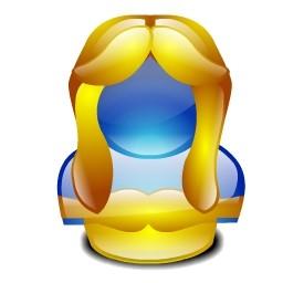 黄色の結晶の女の子 Vista のアイコン 無料のアイコン 無料素材イラスト ベクターのフリーデザイナー