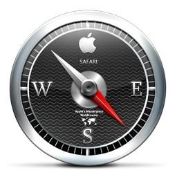 黒い Apple コンパス Vista のアイコン 無料のアイコン 無料素材イラスト ベクターのフリーデザイナー