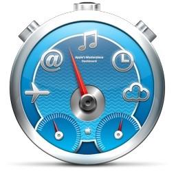 ブルー多機能時計 Vista のアイコン 無料のアイコン 無料素材イラスト ベクターのフリーデザイナー