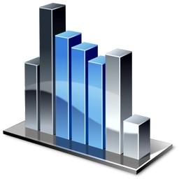 3d グラフの Vista のアイコン バー無料アイコン 無料素材イラスト ベクターのフリーデザイナー