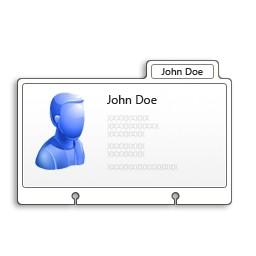プロフィール カード Vista のアイコン 無料のアイコン 無料素材イラスト ベクターのフリーデザイナー