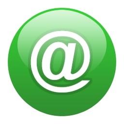 Vista のアイコン 無料のアイコン アットマーク グリーン グローブ 無料素材イラスト ベクターのフリーデザイナー